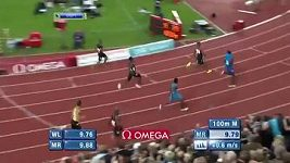 Usain Bolt srazil podavačku květin