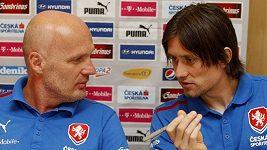 Michal Bílek na tiskové konferenci