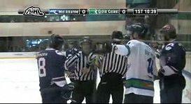 Ukázka ze zápasu australské hokejové soutěže