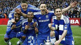 Oslavy Chelsea v šatně