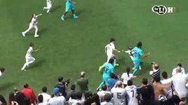 Neymar a Pelé slaví se Santosem