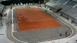 Takhle se připravuje hala na Davis Cup