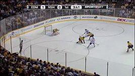 První hattrick Aleše Hemského v NHL