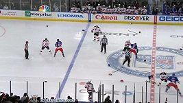Bitka mezi hráči New Yorku Rangers a New Jersey Devils