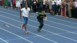 Princ Harry závodil s Usainem Boltem