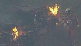 Juan Pablo Montoya v dramatické havárii