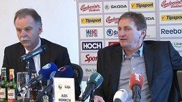 Tisková konference k nominaci české hokejové reprezentace na Oddset Hockey Games.