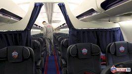Luxusní letadlo basketbalistů CSKA Moskva