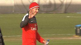 David Beckham poprvé na tréninku s týmem PSG.