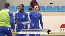 Hráči Dynama Kyjev se porvali na tréninku