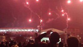 Pyrotechnický experiment fanoušků Fenerbahce