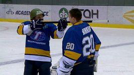 Prapodivné oslavy kazašského hokejového mužstva.