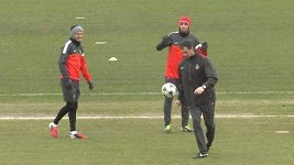 David Beckham na tréningu PSG