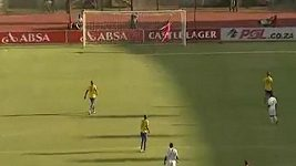 Mor Diouf se v jihoafrické lize trefil ze sedmdesáti metrů.