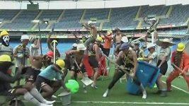 Harlem Shake v podání fotbalistů brazilského týmu Botafogo.