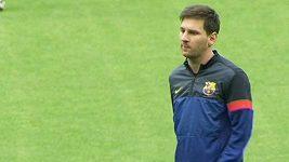 Messi na tréninku