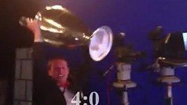František Straka oslavuje góly Bayernu