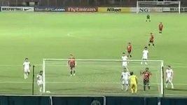 Mohd Badhri bin Mohd Radzi vstřelil gól přímo z rohu.