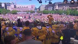Švédsko oslavuje vítězství v hokeji