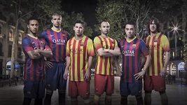 Nové dresy fotbalistů Barcelony