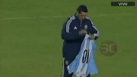 Fanoušek Argentiny vzal Messimu dres