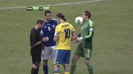 Ibrahimovic trefil brankáře míčem do obličeje
