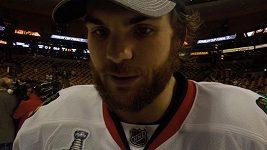 Michael Frolík po vítězství Stanley Cupu