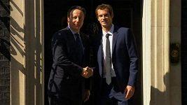 Tenista Andy Murray u britského ministerského předsedy Davida Camerona.