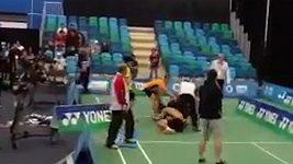Rvačka při badmintonu