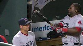 Rozčílený baseballista David Ortiz