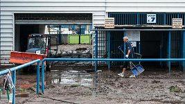 Libereckým stadiónem U Nisy se prohnala povodeň