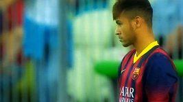 Neymarův debut v dresu Barcelony proti Gdaňsku