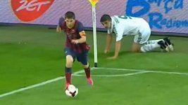Lionel Messi v přípravě s Gdaňskem.