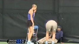 Tenistka zranila rozhodčího