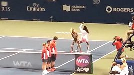 Americká tenistka Venus Williamsová zatančila na kurtu.
