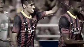 Neymarův první gól za Barcelonu