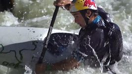 Vavřinec Hradilek se svými slalomovými kamarády na Trnávce