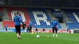 Trénink Plzně před utkáním LM s Manchesterem City