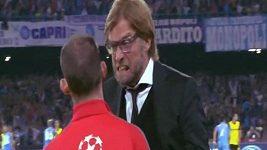 Nervózní reakce trenéra Dortmundu Kloppa v Lize mistrů
