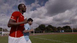 Usain Bolt se snaží unavit Sergia Agüera