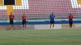 Trénink fotbalové reprezentace na Maltě