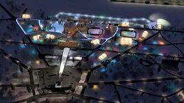 Vizualizace Olympijského parku na Letné