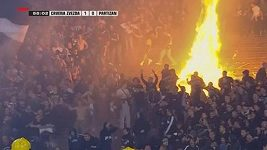 Napjatá atmosféra na bělehradském derby