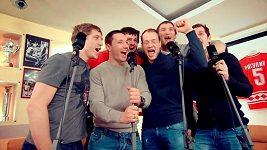 Hymna ruských hokejistů před ZOH v Soči