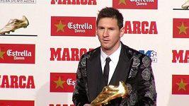 Messi převzal Zlatou kopačku