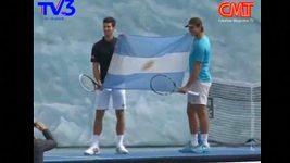 Nadal s Djokovičem na exhibici na argentinském ledovci