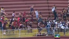 Brazílie bitka fotbal
