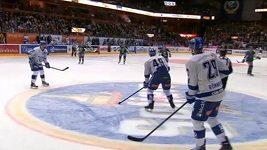 Podivný gól ve švédské hokejové lize