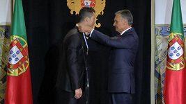 Ronaldo dostal ocenění od portugalského prezidenta