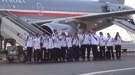 Odlet druhé části olympijské výpravy do Soči